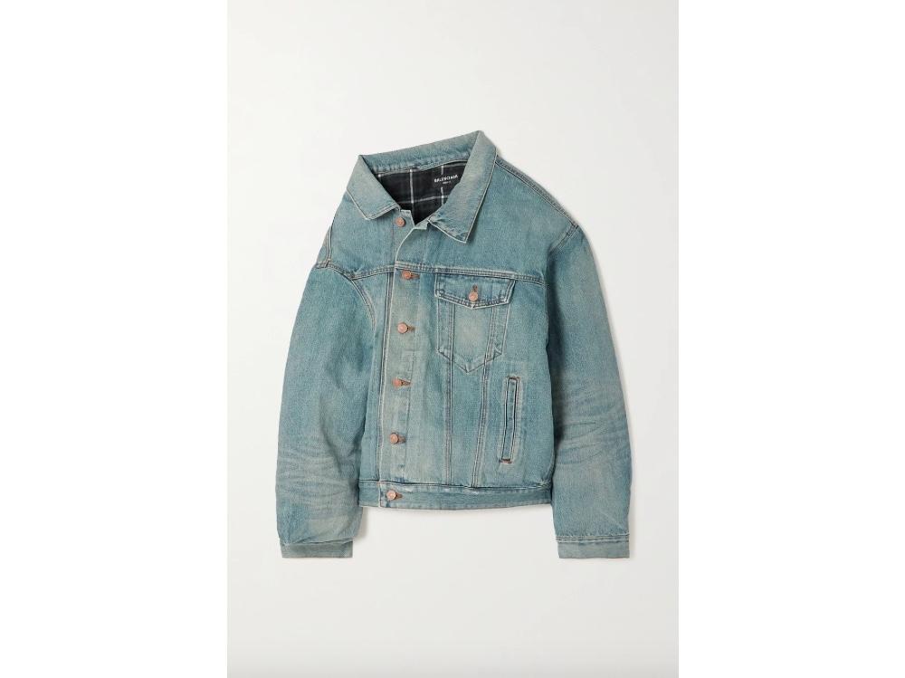Giacca in jeans_Balenciaga