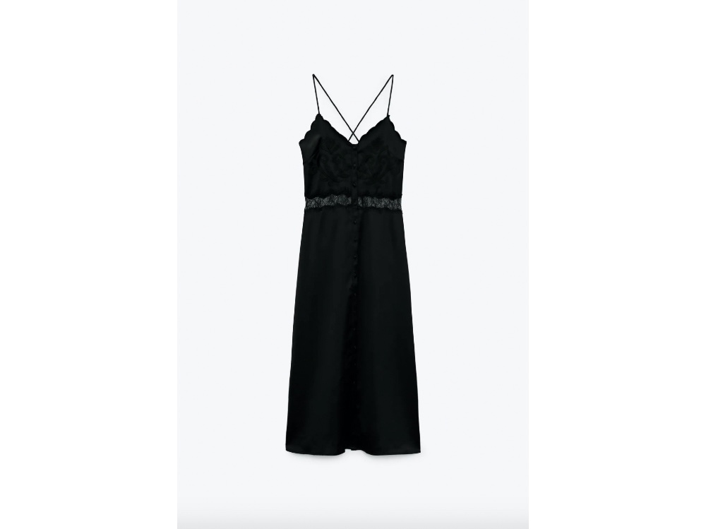 Vestito midi nero_Zara