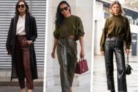 """Come abbinare i pantaloni in pelle (o """"simil"""")? Quest'autunno provate questi 5 look"""
