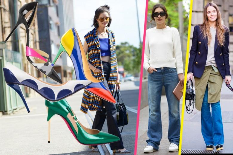 Pantaloni a zampa: le scarpe da abbinare